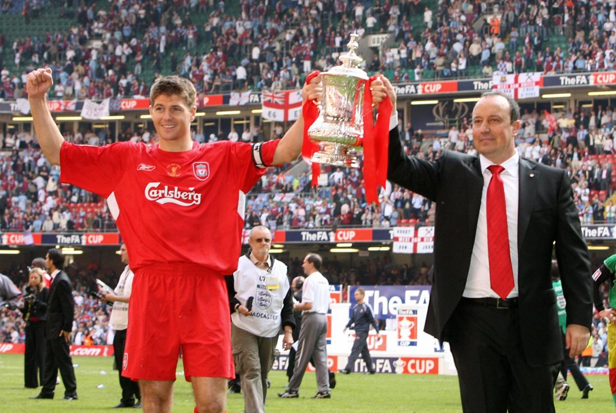 Steven Gerrard and Rafael Benitez