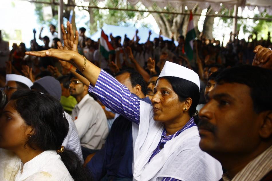 Rally for Anna Hazare in Bangalore, India