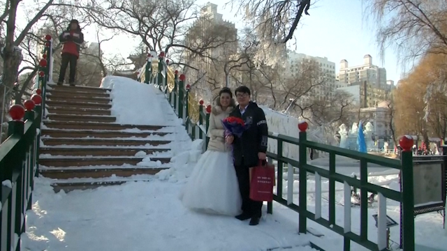 Ice festival wedding