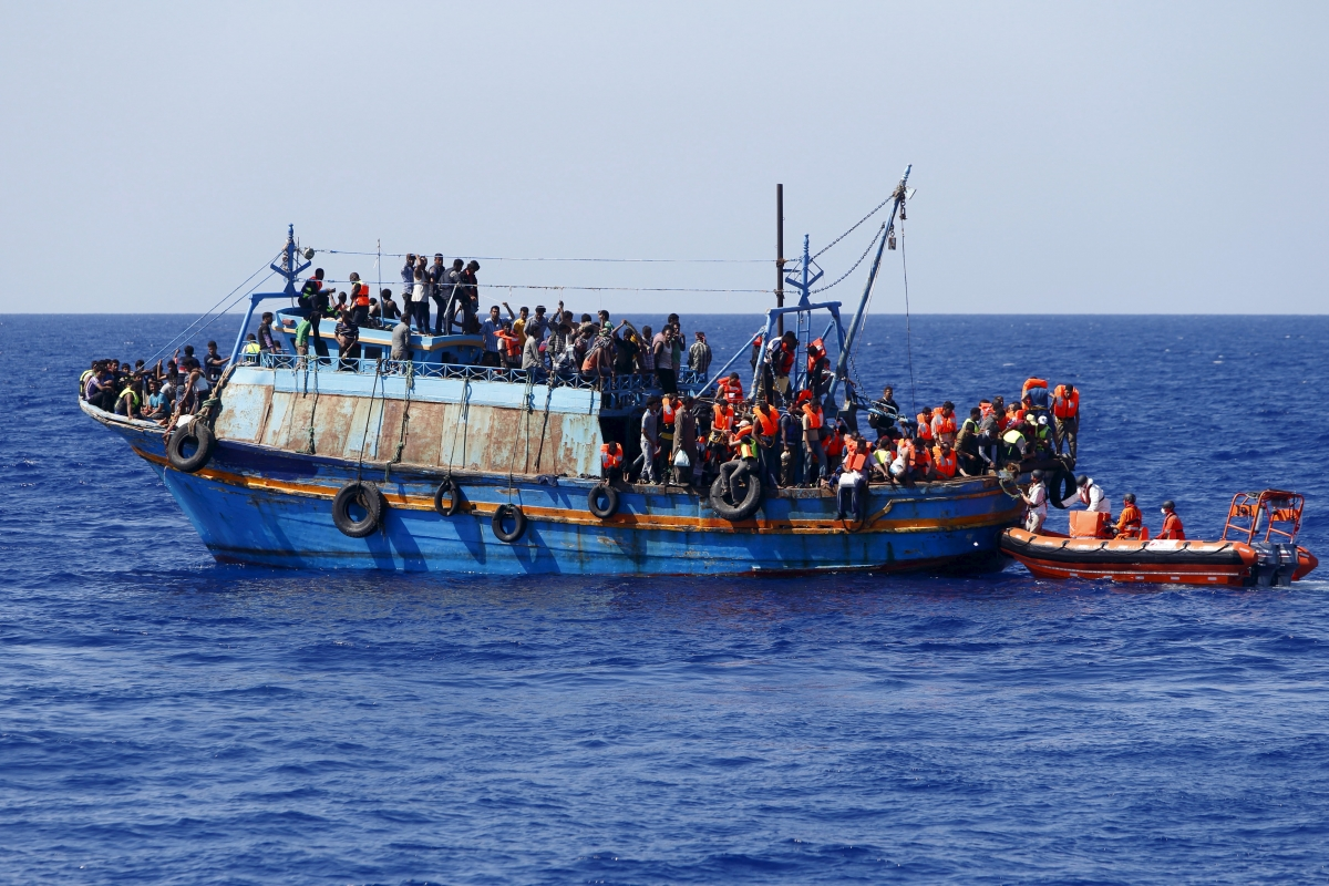 Migrants off the coast of Libya