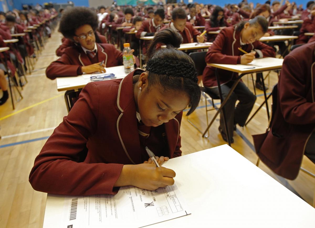 Students in exam