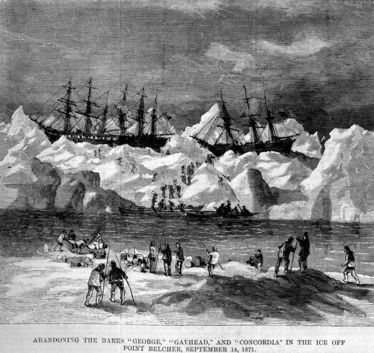 Abandonment of the whalers in the Arctic Ocean