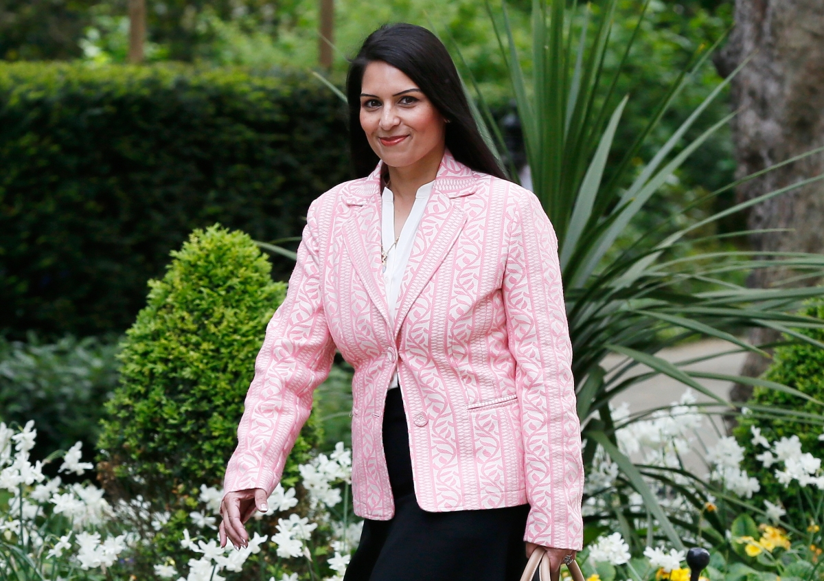 Britain minister of employment Priti Patel