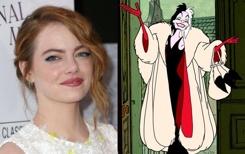 Emma Stone and Cruella De Vil