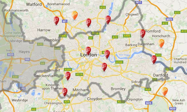 London power cuts