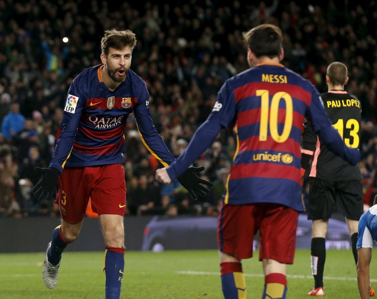 Gerard Pique & Lionel Messi