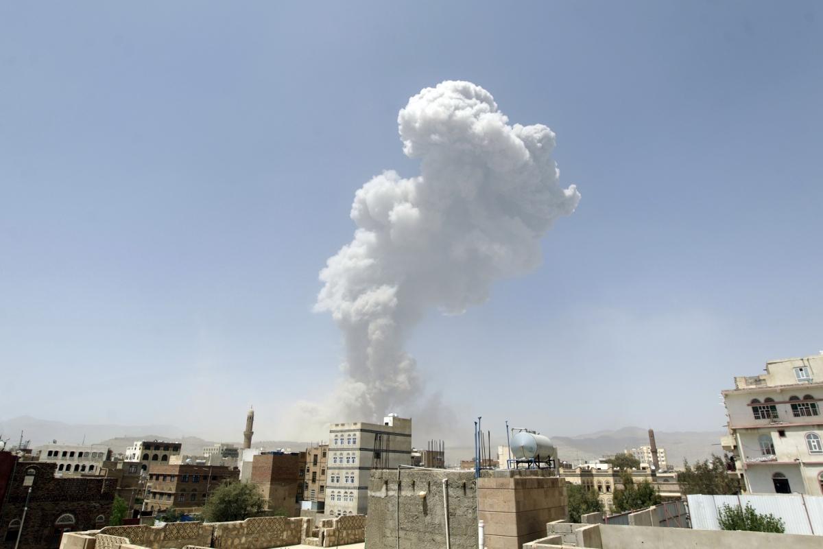 Airstrikes Sanaa