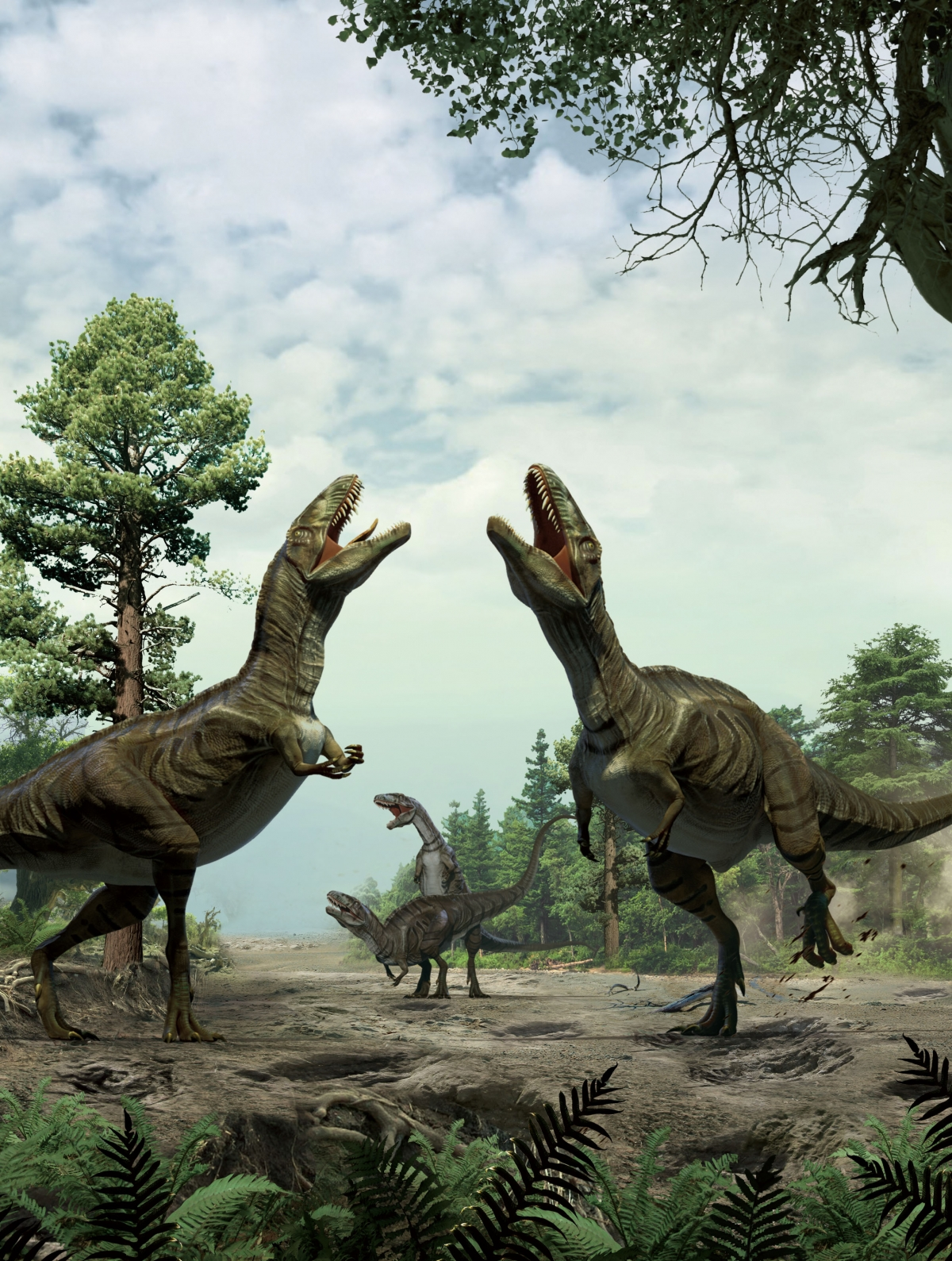 dancing mating dinosaurs