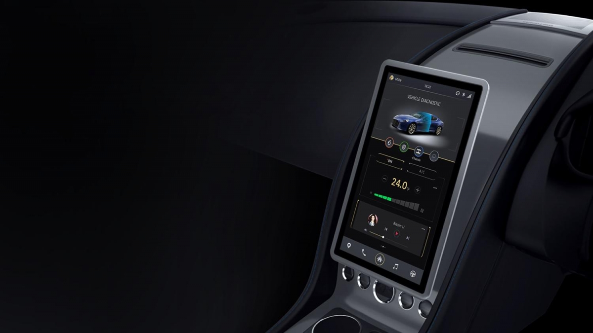 Ces 2016 Aston Martin Leaps Into The Future With Huge Tesla Style
