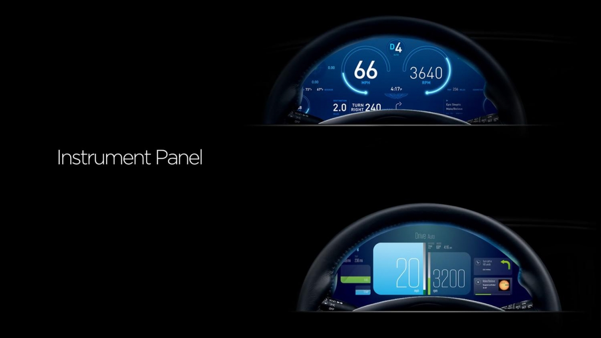 Aston Martine Rapide S touchscreen CES
