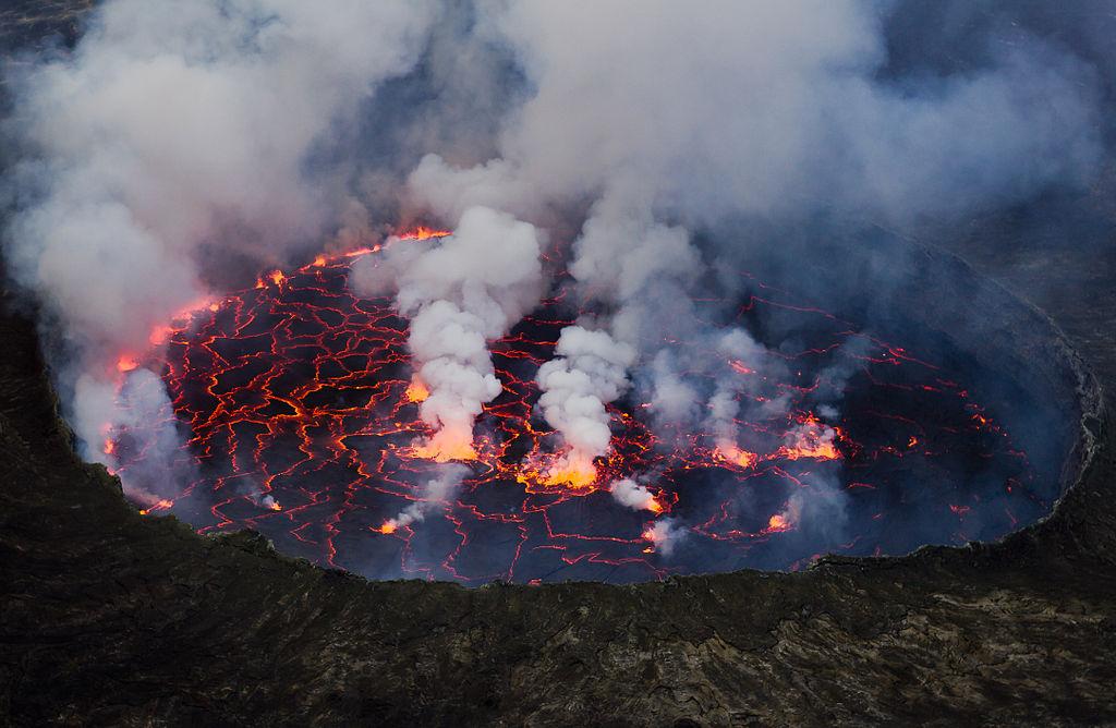 supervolcano mass extinction Nyiragongo
