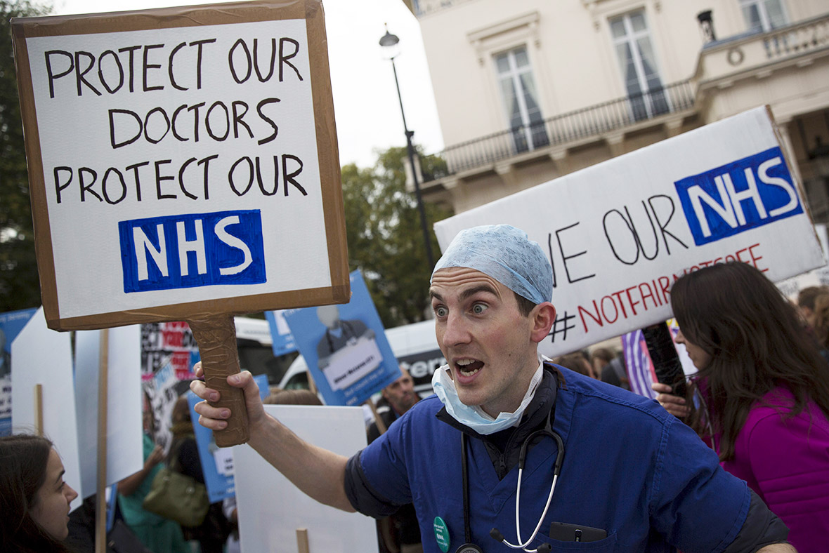 Junior doctors protest