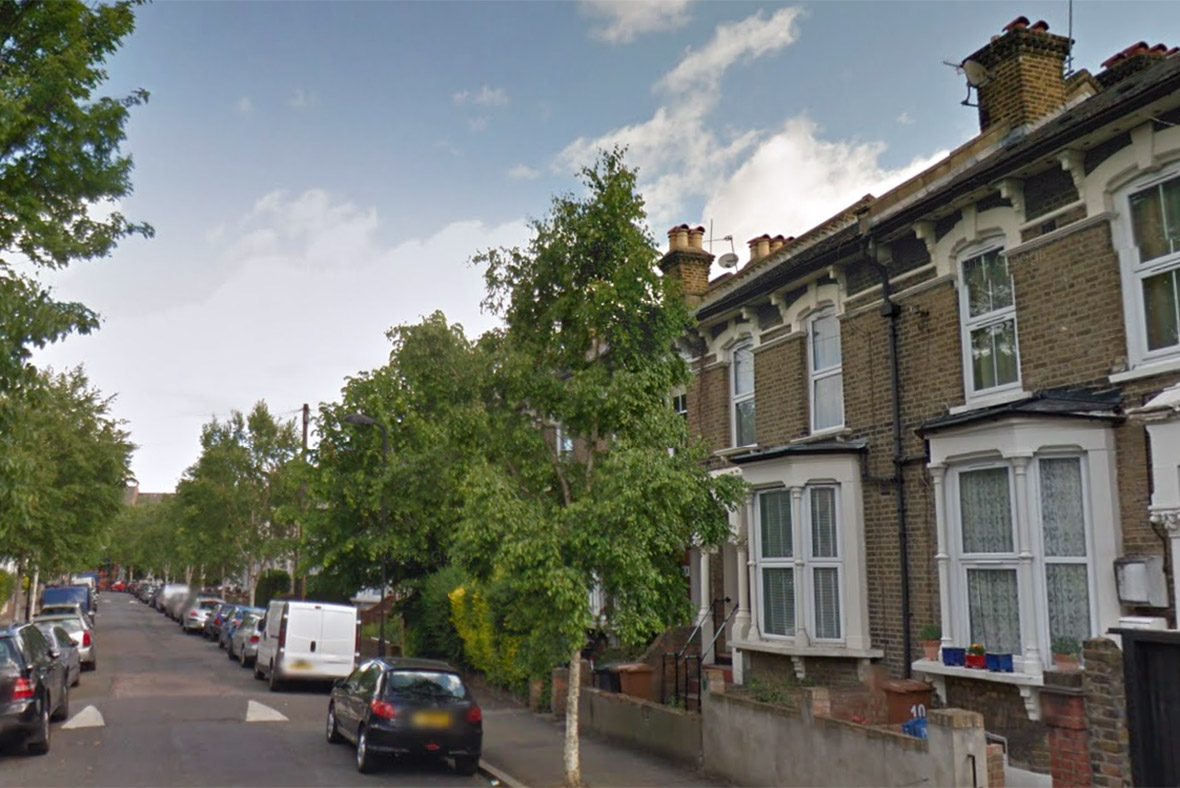 Northcott Road, Stoke Newington, where fficers received reports of shots being fired shortly after 1pm on Tuesday (5 January)