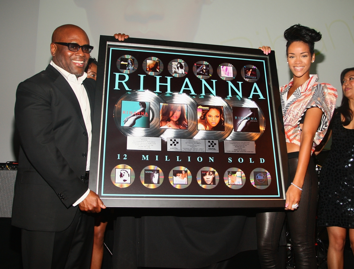 LA reid and Rihanna