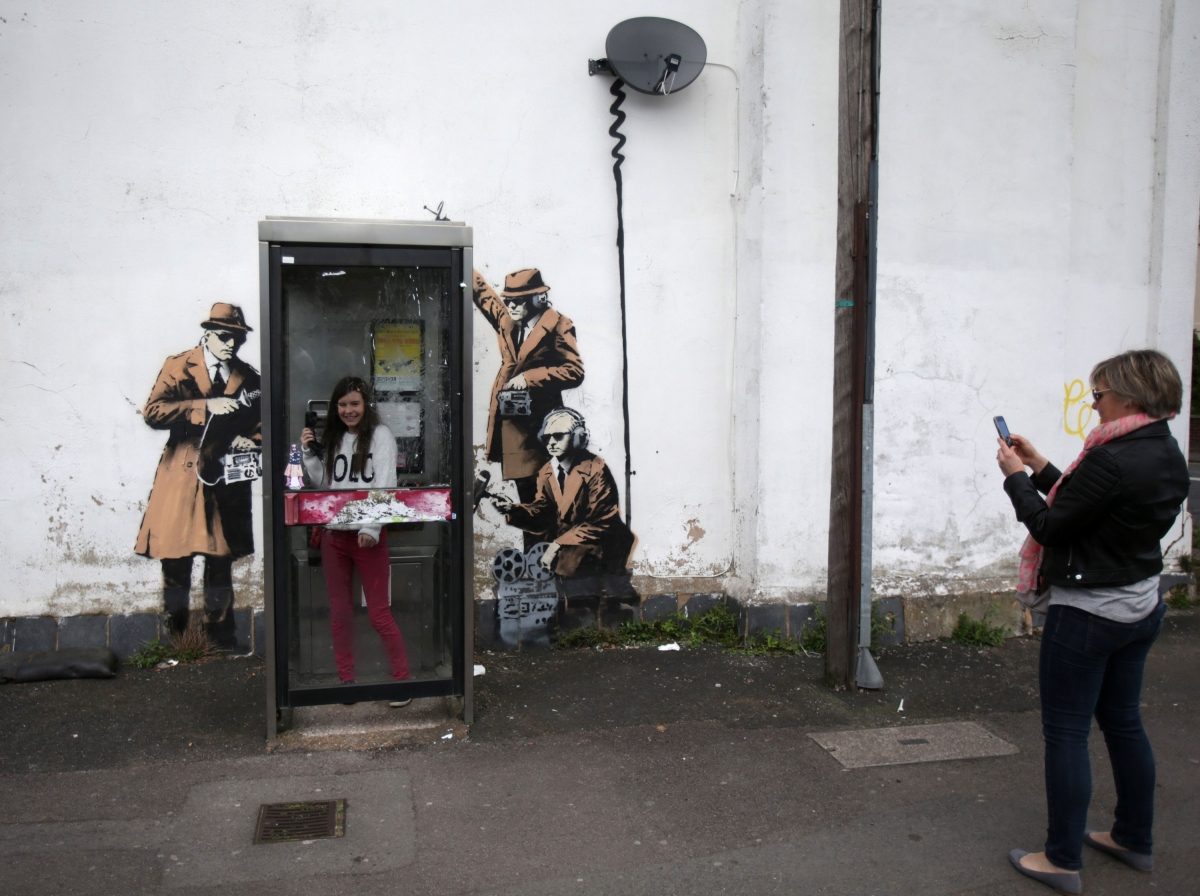 Cheltenham House With Banksy S Spy Booth Art On Exterior