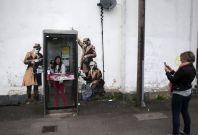 Banksy Spy Booth Cheltenham