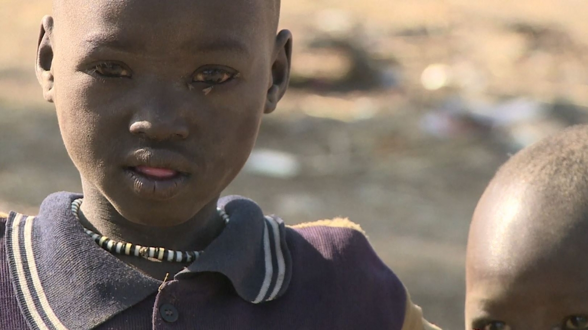 Child in South Sudan