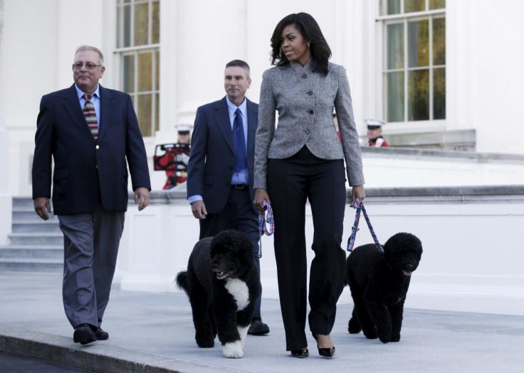 Michelle Obama, Bo & Sunny