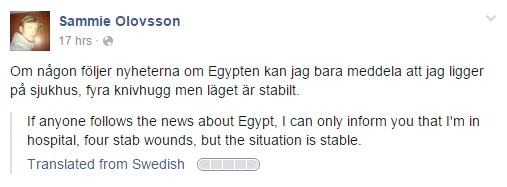 Egypt Hotel Stabbing Victim Sammie Olovsson
