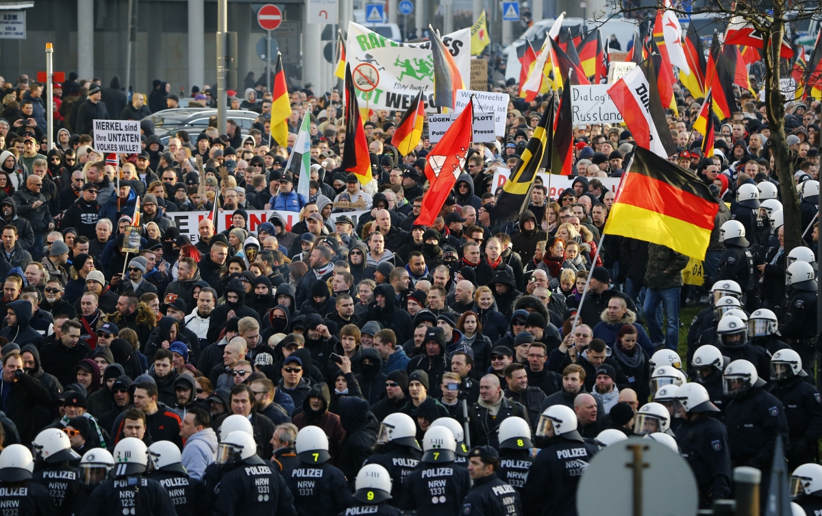 Pegida rally Cologne