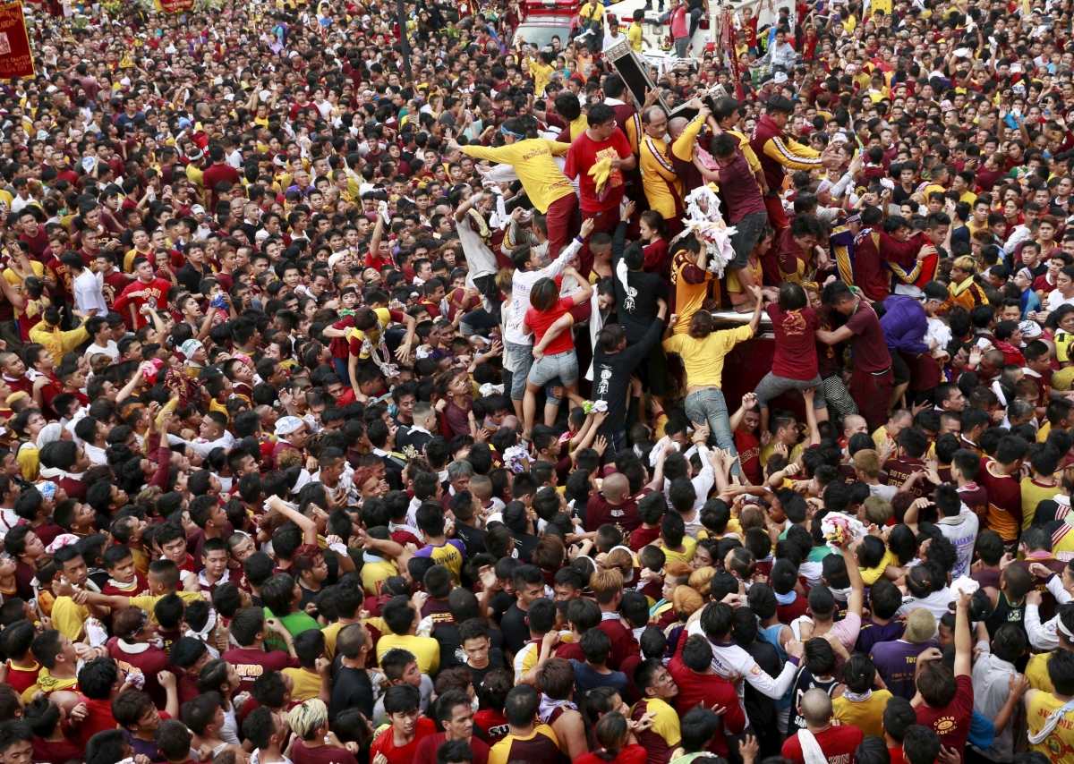The annual procession of Black of Black Nazarene