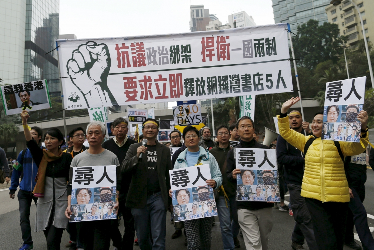 hong kong protesters publisher disappearance