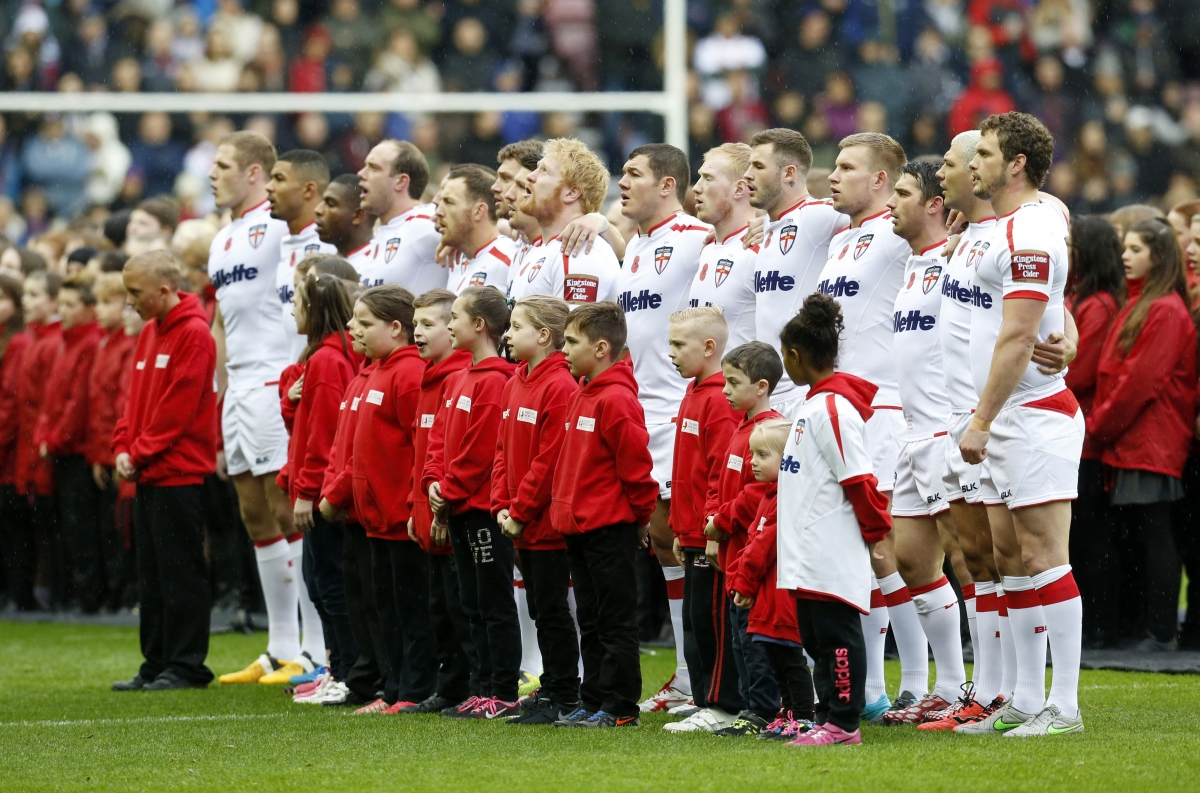 English rugby players singing
