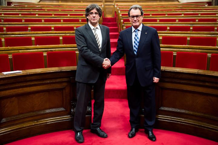 Carles Puigdemont and Artur Mas