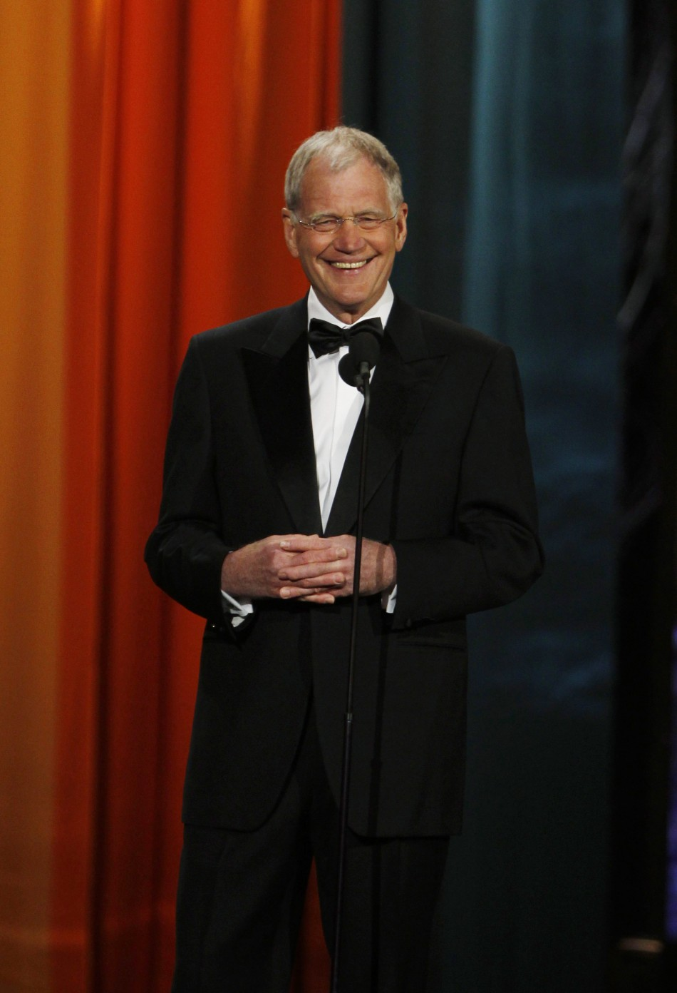 Late night television host David Letterman