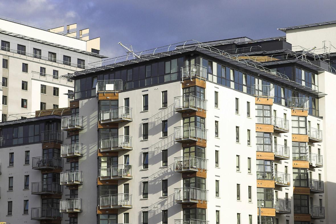 Block of modern flats