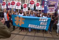 Student nurse protest over bursary changes