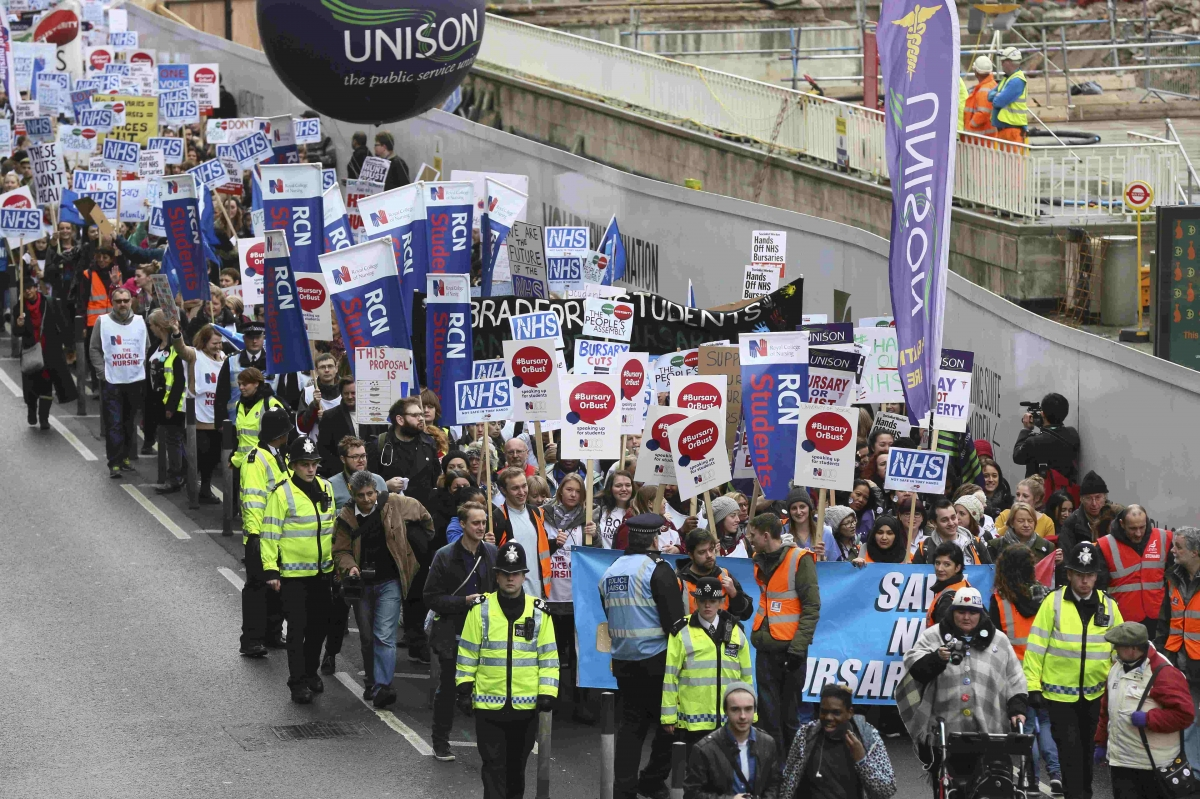 Nurses and midwives protest over bursary changes