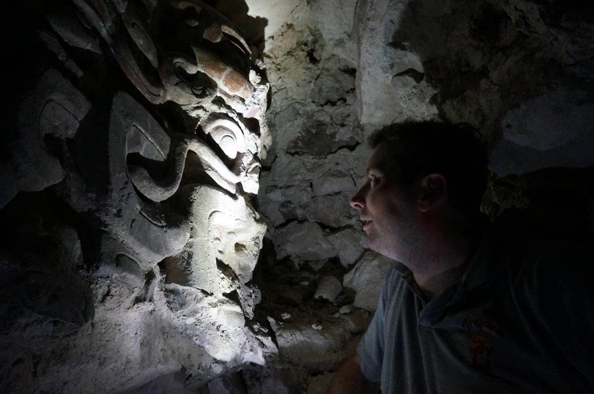 maya stone mask