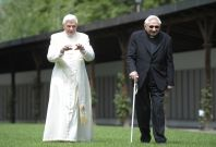 Former Pope Benedict XVI and Georg Ratzinger