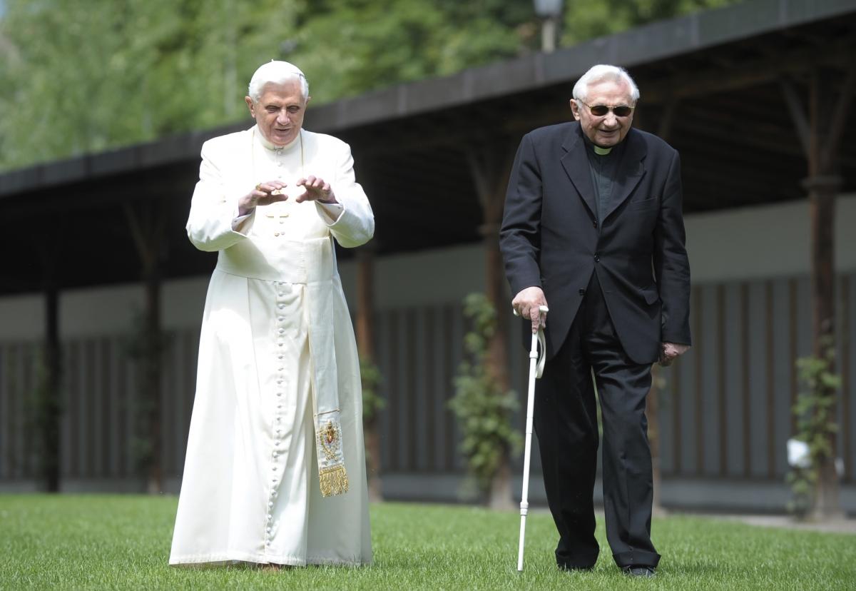 Former Pope Benedict XVI and Georg Ratzinger