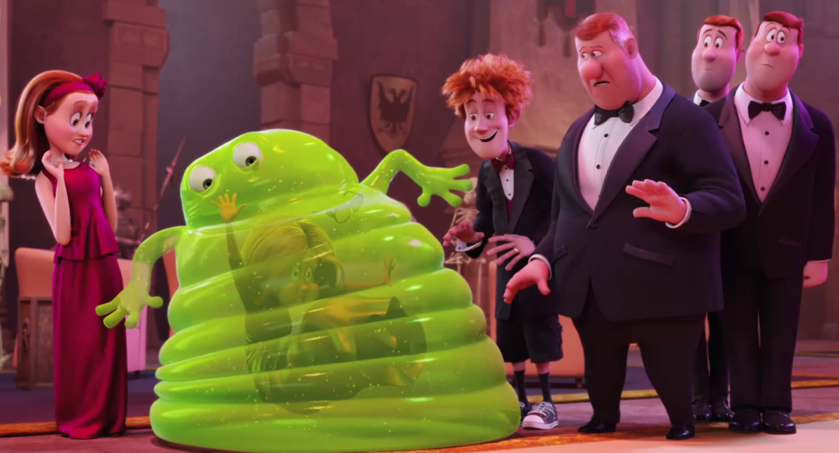 Blobby the jelly monster in Hotel Transylvania