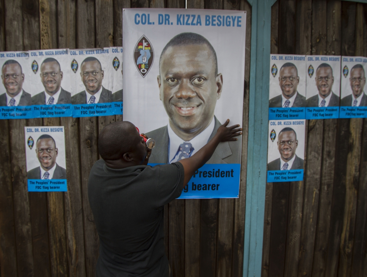 Uganda presidential election hopeful Kizza Besigye
