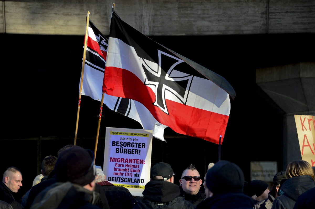 Far right extremists in Cologne