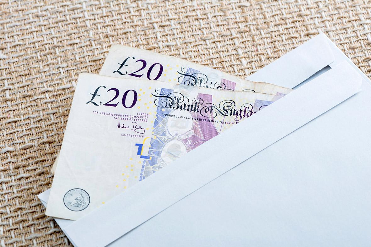 pension money envelope