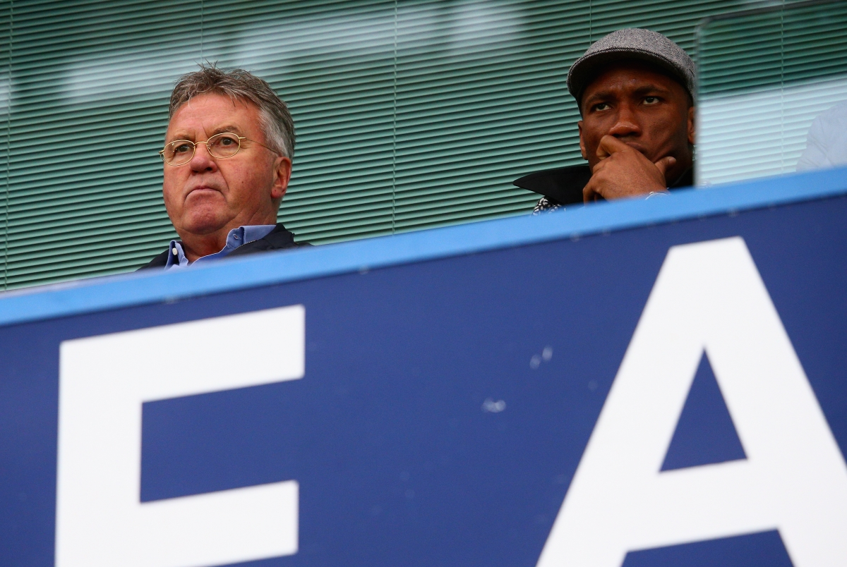 Guus Hiddink and Didier Drogba
