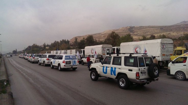 WFP trucks arrive in Madaya