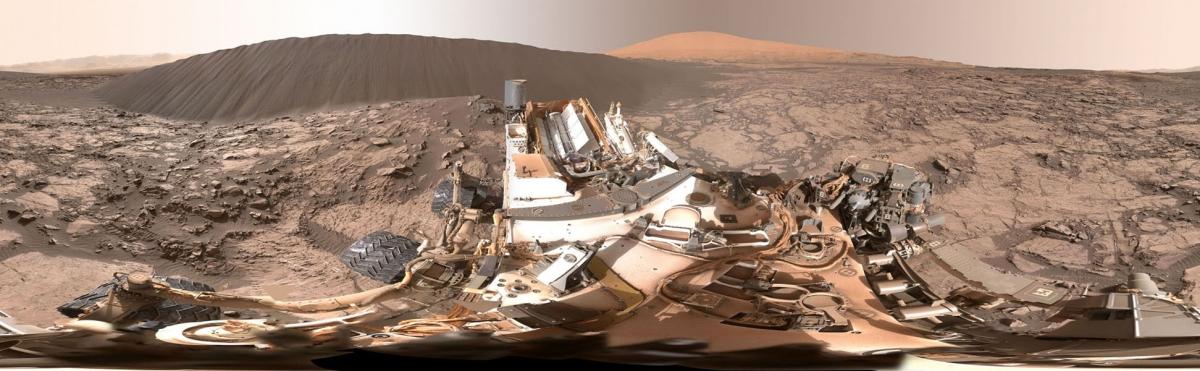 Curiosity Mars dune