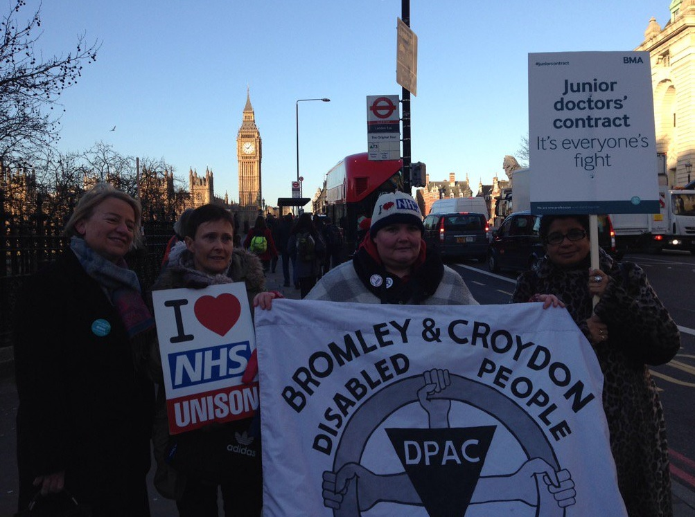 Junior doctors picket
