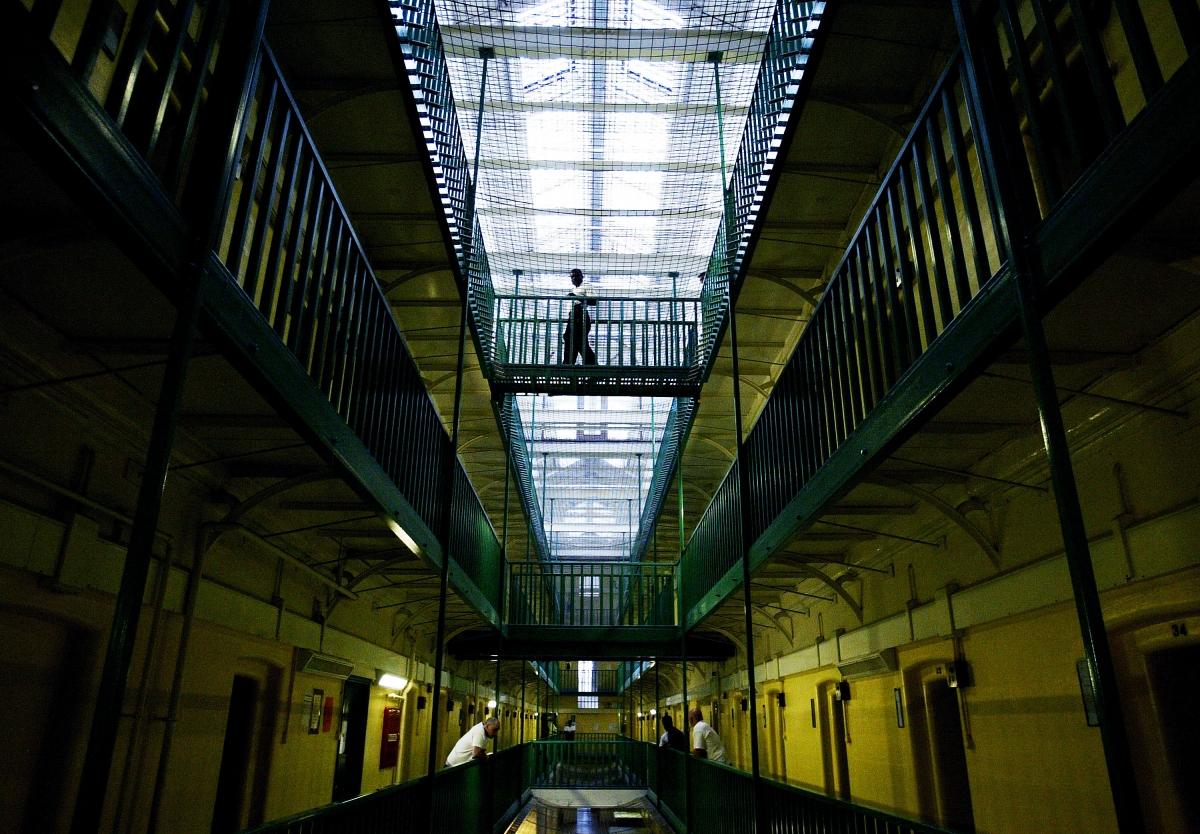 Two Men Escape Pentonville Prison After Leaving Mannequins Beds 1590297 on Person Cut Out