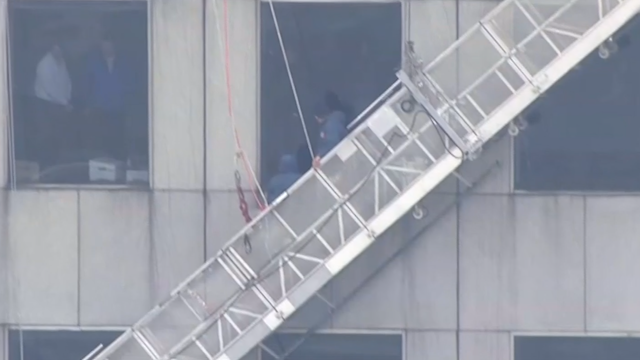 Windows washers rescued