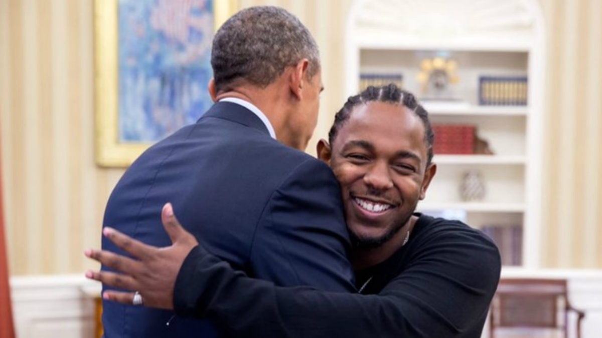 Kendrick Lamar and Barack Obama