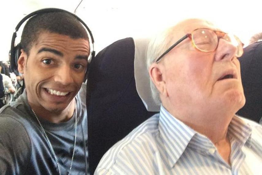 Jean-Marie Le Pen selfie