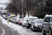 Snow causes travel disruption