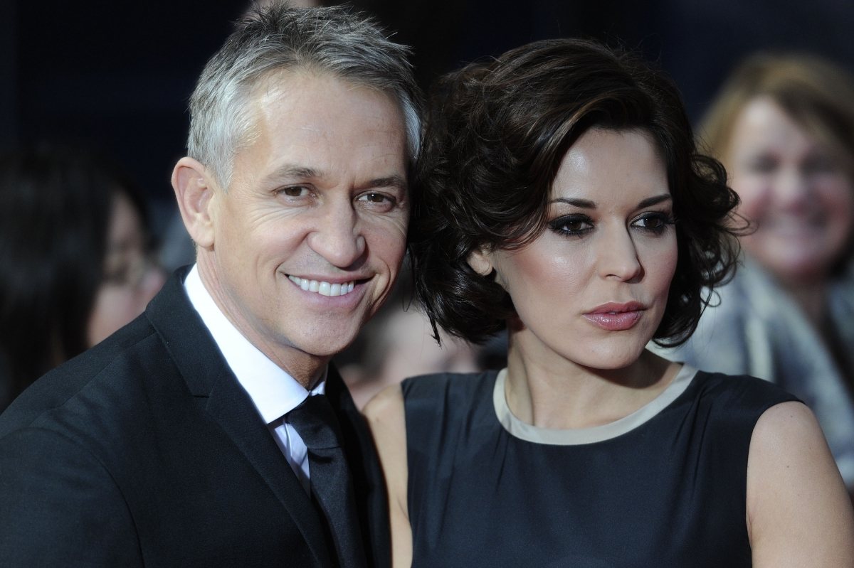 Gary Lineker and his wife Danielle Bux