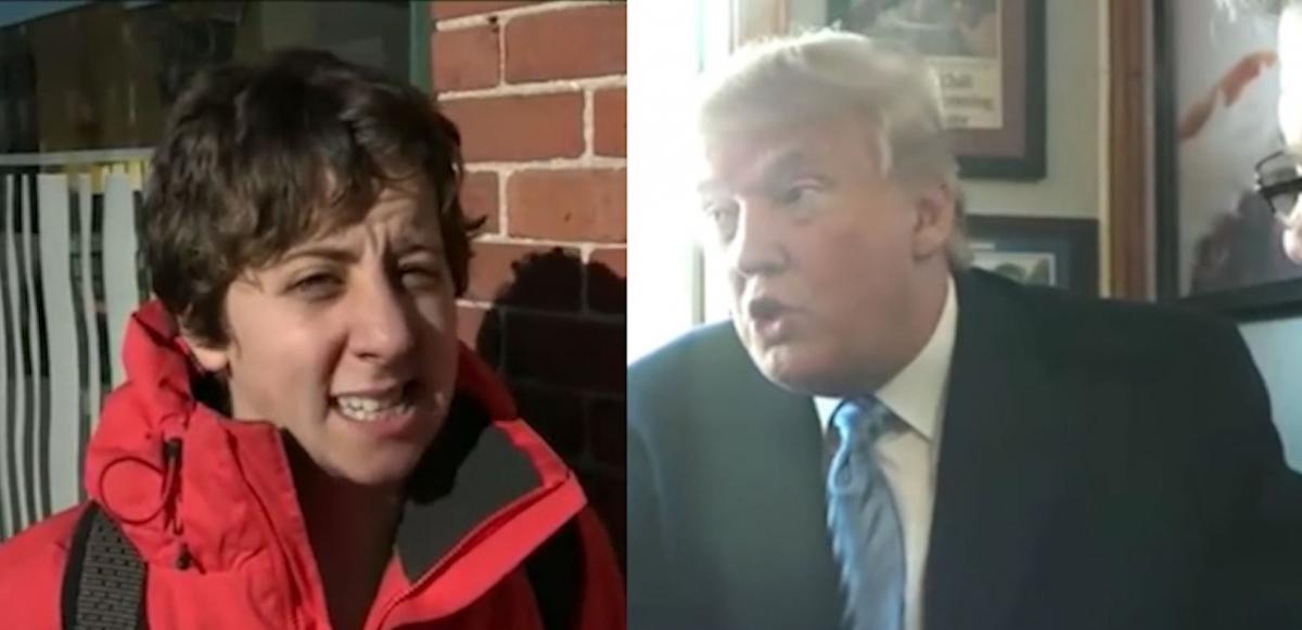 Heckler calls Trump racist